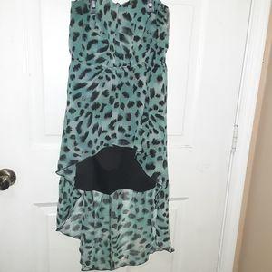 Rue21 Womens Misses Dress Blue Leopard